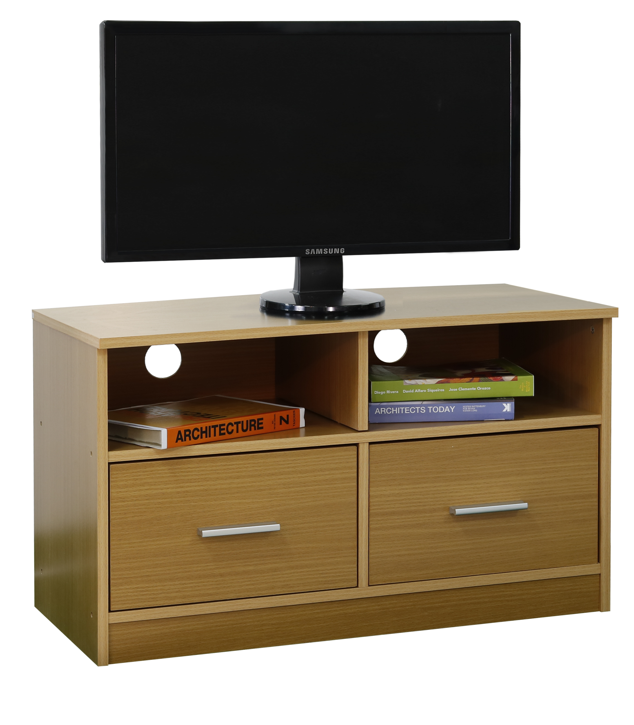 Groovy Tv Stand Wooden Cabinet With 2 Drawers Shelf Storage Entertainment Unit 5 Colour Finishes Download Free Architecture Designs Grimeyleaguecom